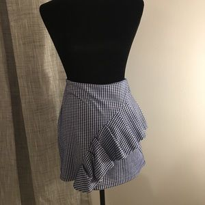 TOPSHOP gingham ruffle skirt